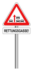 Rettungsgasse Verkehrsschild