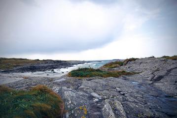 Rocks by the coast in Norway, near Vigra village
