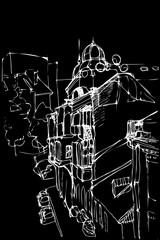 sketch urban landscape