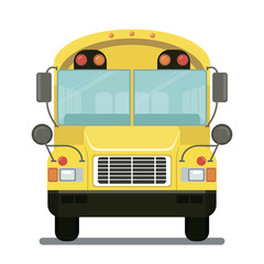 Vector drawing school bus flat modern design