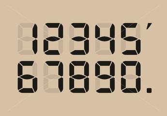 Calculator digital numbers.