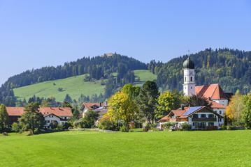 Eisenberg im Allgäu mit Burgruine