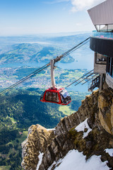 Pilatus Kulm und Seilbahn, Gipfel über dem Vierwaldstättersee, Schweiz, Europa