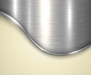 Background silver metallic with brushed metal  texture and copy space