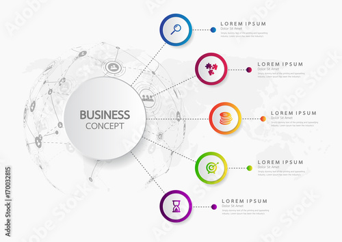 Vector Infographic Template Business Concept With Options Label