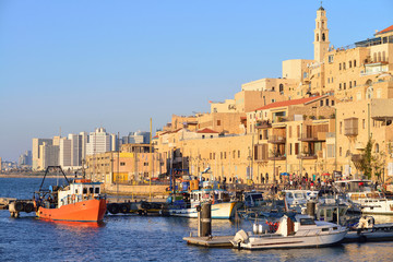 TEL AVIV, ISRAEL - APRIL, 2017: Old town and port of Jaffa of Tel Aviv city, Israel