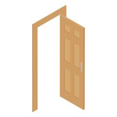 Isometric door vector