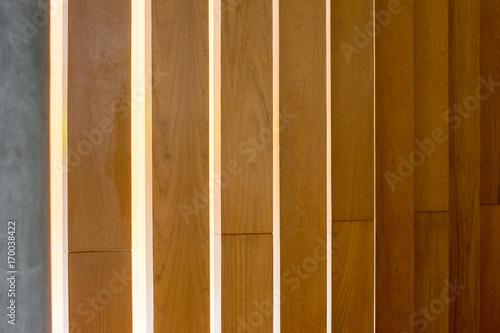 Interior Wall Design Receding Vertical Pattern In Wood Wall Light
