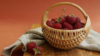Rasberry in basket