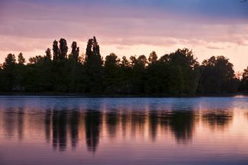 tramonto riflesso