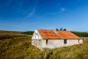 Old abandoned barn in rural Iceland.