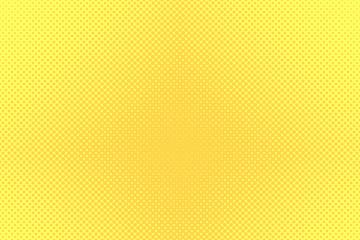 Gradient halftone dots background. Pop art template, texture. Yellow and orange. Vector illustration.