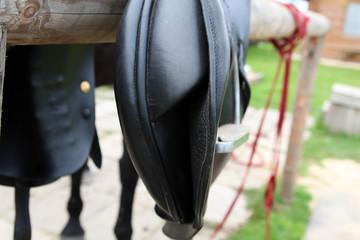 Horse Saddle Detail. Leather saddle horse