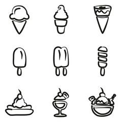 Ice Cream Icons Freehand