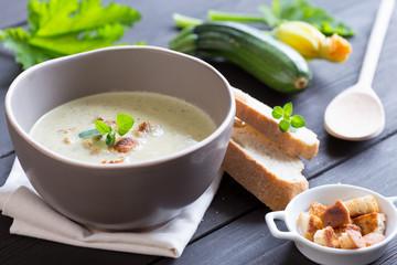 zucchinicremesuppe