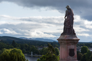 Statue near Inverness castle Scotland