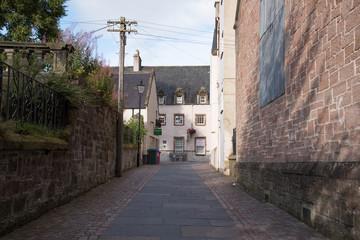 Small street in Inverness Scotland