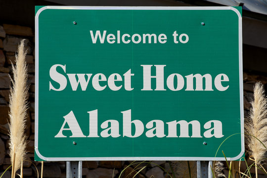 Welcome to Alabama road sign