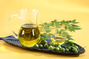 Fresh Neem Leaves with Oil