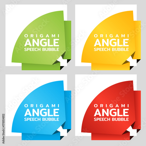 origami rounded angle paper banners price tag template for catalog