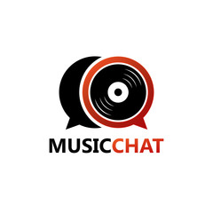 Music Chat Logo Template Design