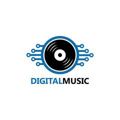 Digital Music Logo Template Design