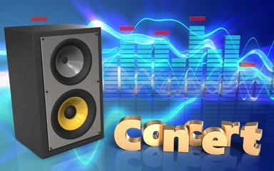 3d concert sign spectrum