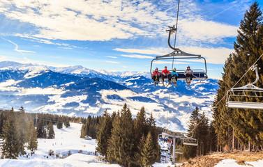 Ski lift.  Ski resort   Hopfgarten, Tyrol, Austria