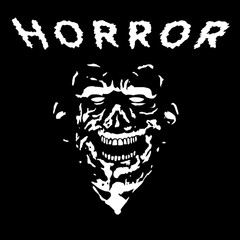 Grim zombie in black and white colors. Vector illustration.