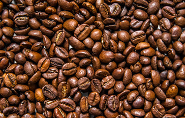 Coffee Background. roasted coffee beans.