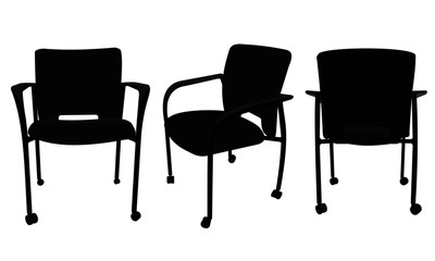 Office Chairs - 3 angles