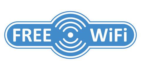 Free wifi logo zone – stock vector