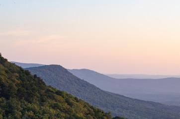 Hills and valleys viewed from an overlook at Cheaha State Park, Alabama