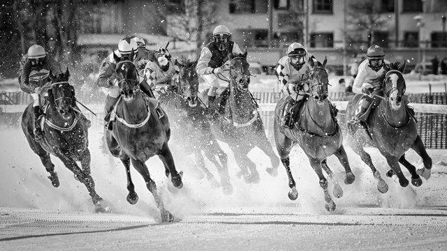 White Turf horse races on Lake St. Moritz