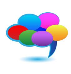 Cloud of speech bubbles icon vector illustration