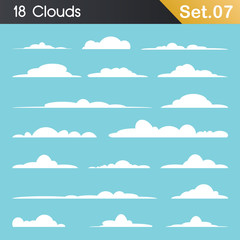 Collection of Clouds in Different Shape And Sizes