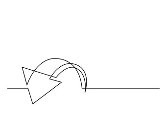 one line drawing of arrow