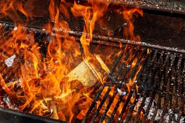 vintage burning paper