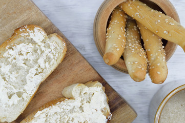 bread for breakfast horizontal