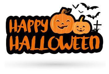 Halloween Banner, Vector Illustration