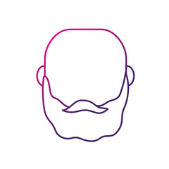 silhouette avatar man head with hairstyle design vector illustration
