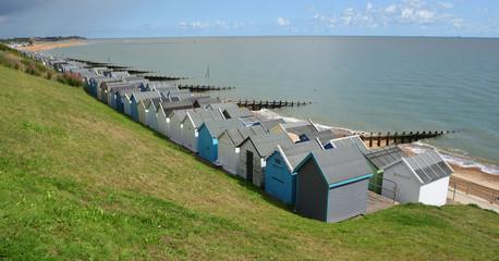 Beach Huts along Felixstowe Seafront