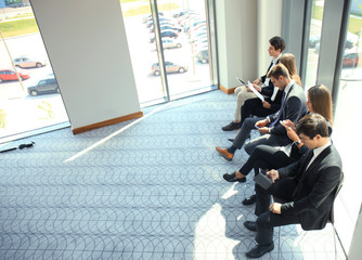 Business people waiting for the job interview.