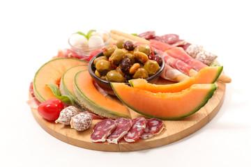 antipasto, buffet food