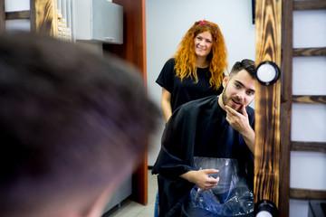 Guy gets a haircut