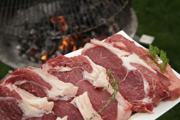 zarte Rindersteaks auf dem Grill / Zubereitung