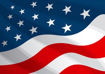 USA Flag Background America