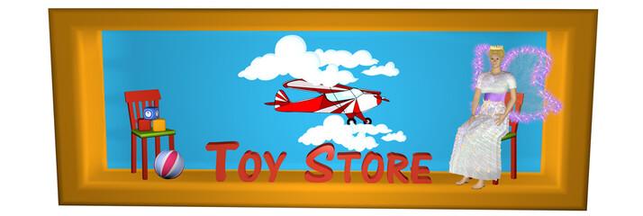 schöner Seitenbanner für einen Internetshop mit Spielsachen.