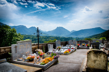 Le cimetière de Leschaux en Haute-Savoie