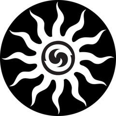 Tribal style SUN design decorative background design tattoo
